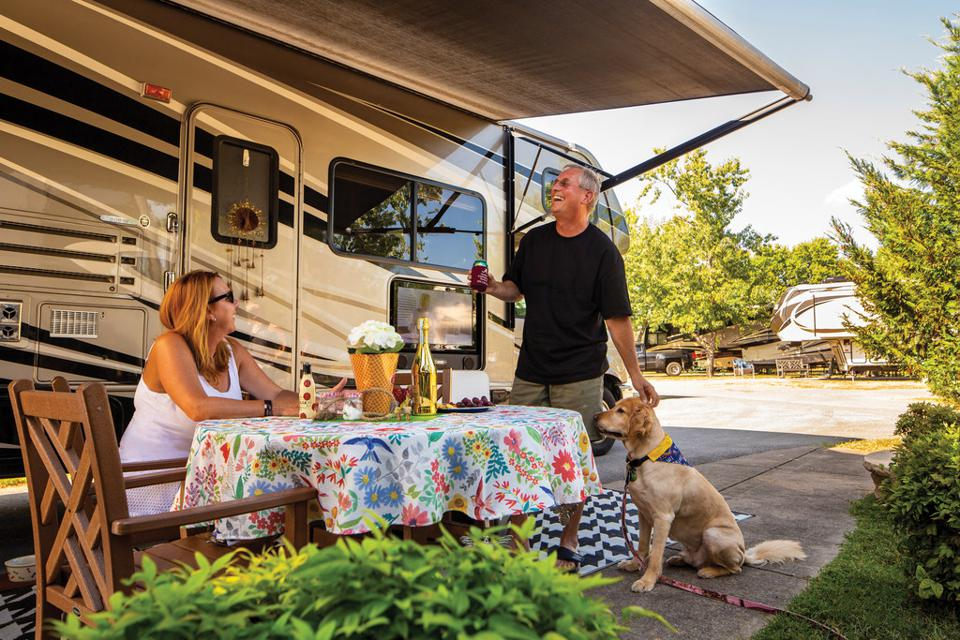 Pets are often part of RV vacations.