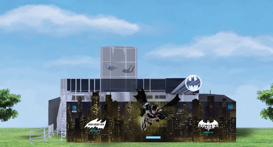 Exterior fencing design for the AT&T and DC Comics ″The Batman Experience″