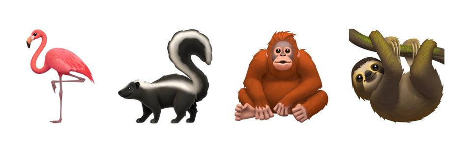 Four more animal emoji.