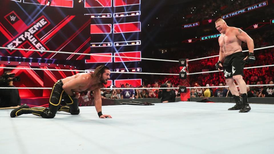 Brock Lesnar and Seth Rollins