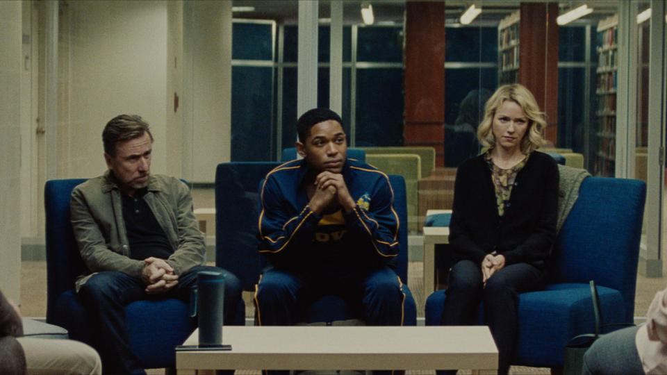 Peter Edgar (Tim Roth), Luce (Kelvin Harrison Jr), and Amy Edgar (Naomi Watts) in LUCE.