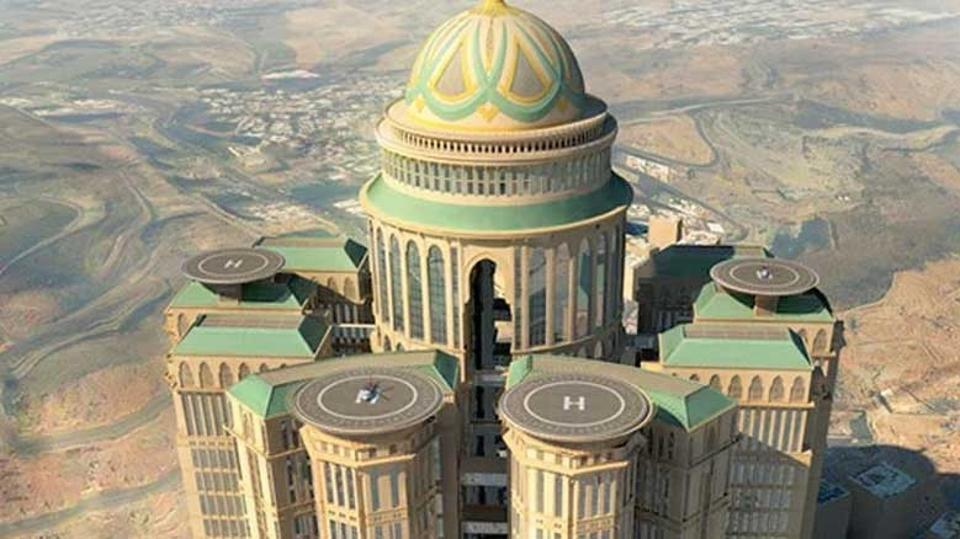 Abraj Kudai in Mecca will eventually become the world's largest hotel once construction is complete.