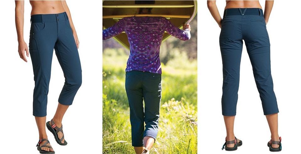Blue Title Nine capri pants.