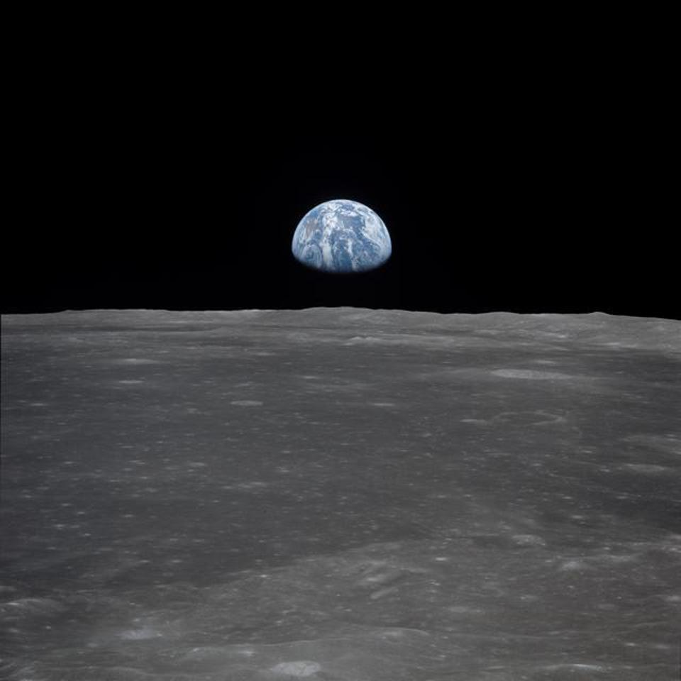 How earth looks from the moon.