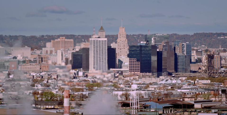 Skyline view of Newark