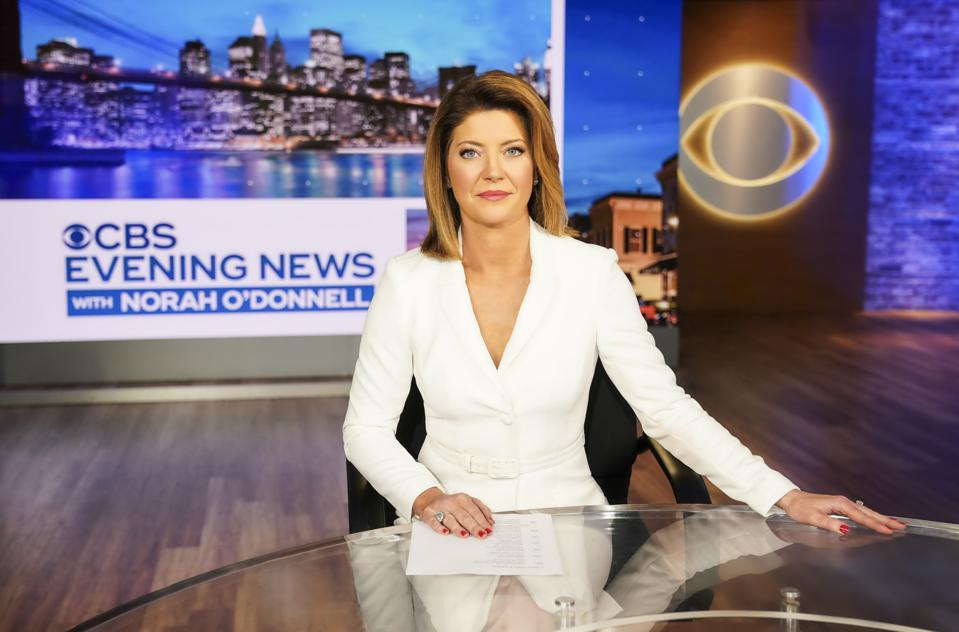 Norah O'Donnell at the CBS studios in New York