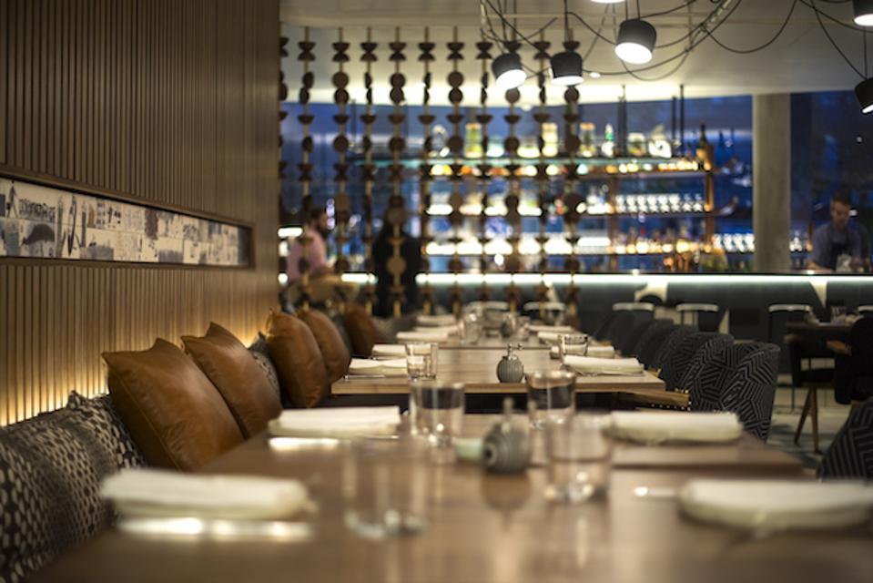Art Yard kitchen and bar at Bankside Hotel