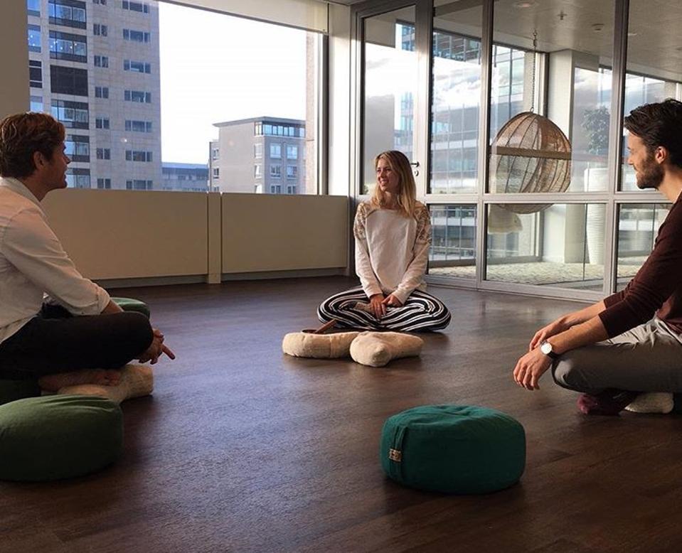 meditation class at work