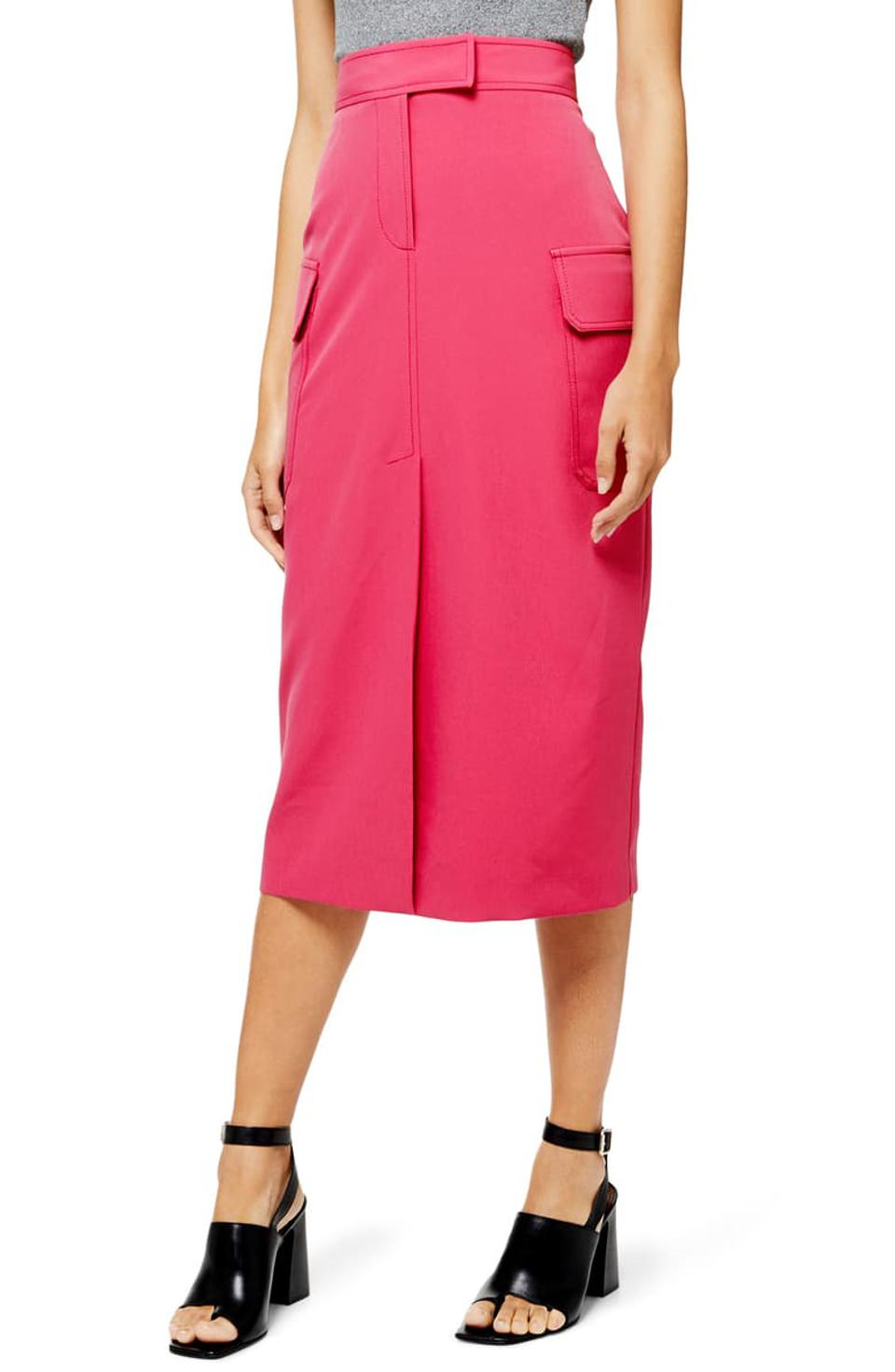 Topshop Utility Midi Skirt