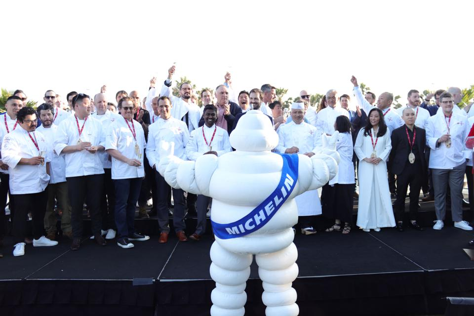 Michelin Man at the Guide's 2019 California launch.