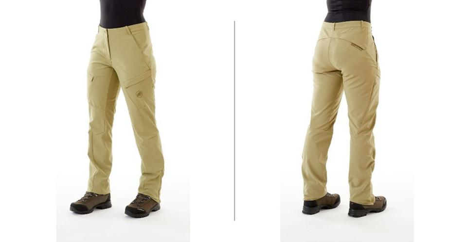 Mammut Zinal hiking pants, on front and back of bottom half of woman model