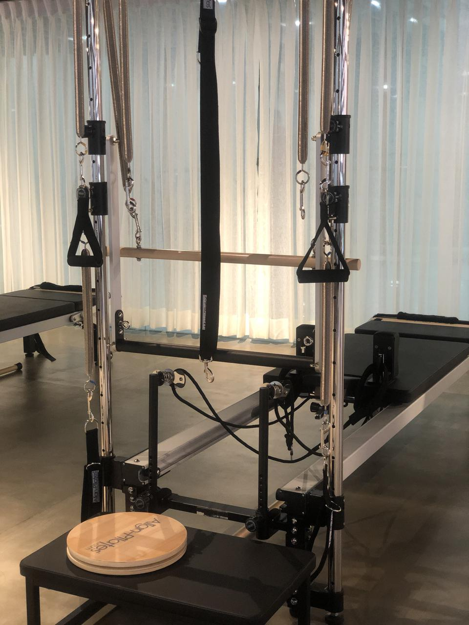 Spring bars, adjustment knobs, silent pulleys and symmetric tensioners are details that enhance Pilates workouts at Fit To Live.