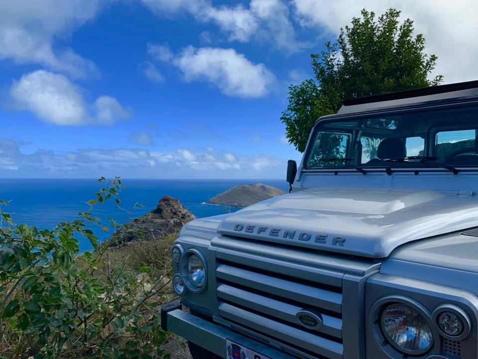 Convertible Land Rover from St Barths Defender