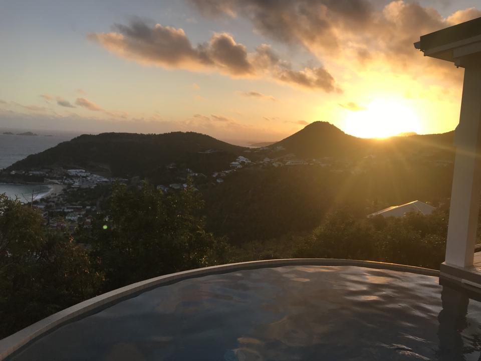 Sunrise from Villa Leana