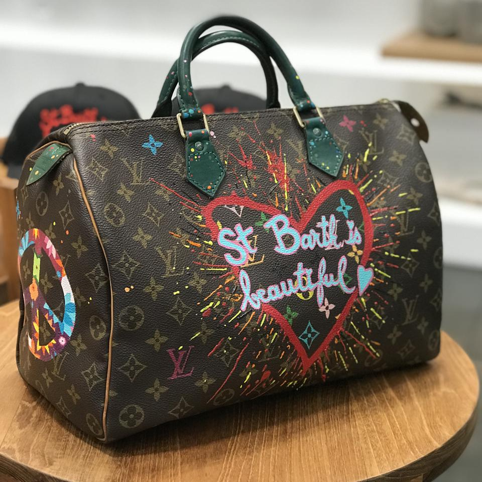 Christian Charriere Louis Vuitton customized bag
