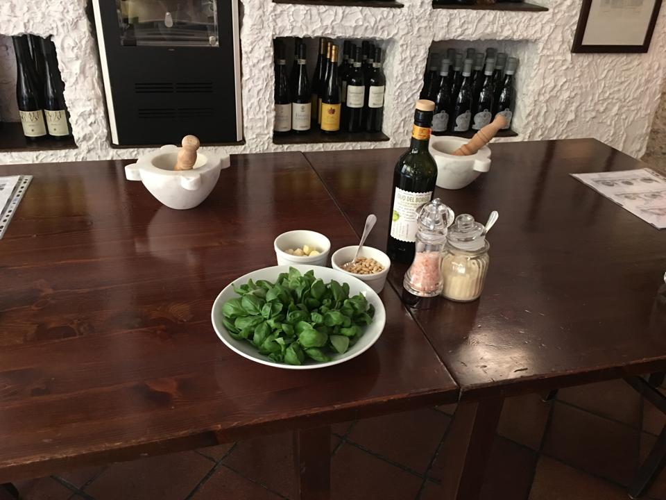 Learn to make Ligurian specialties at the Vecchia Rapallo restaurant.