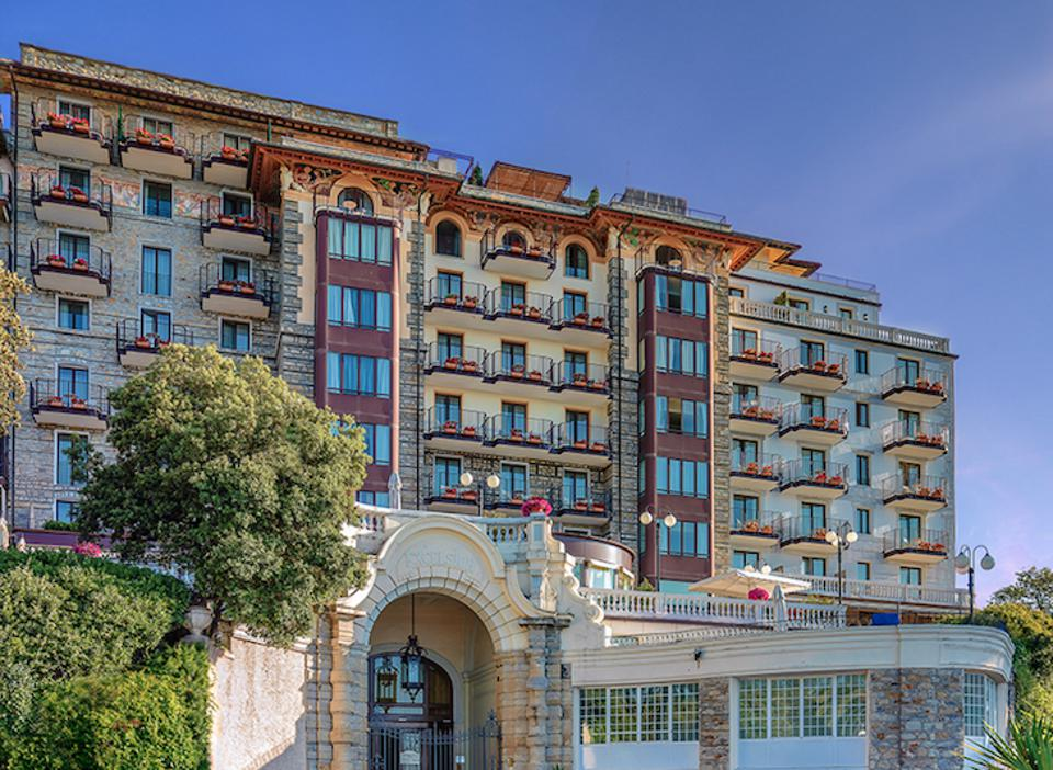 The Excelsior Palace Hotel in Rapallo.