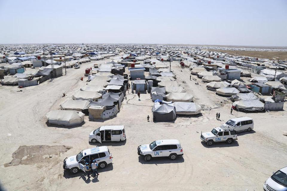 An estimated 90 percent of the people who have taken shelter in Al-Hol camp near the Syria-Iraq border are women and children. Most of the children are under the age of 12.