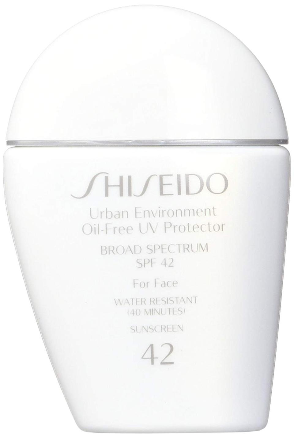 Shiseido Urban Environment Oil-free UV Protector SPF 42 Broad Spectrum for Face