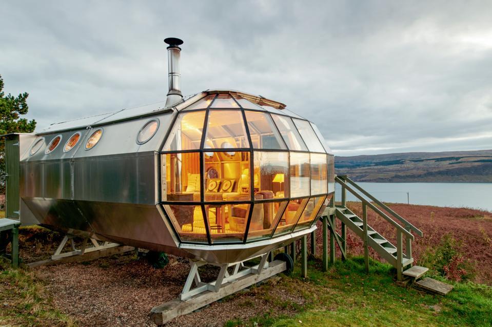 Scotland Spaceship Airbnb