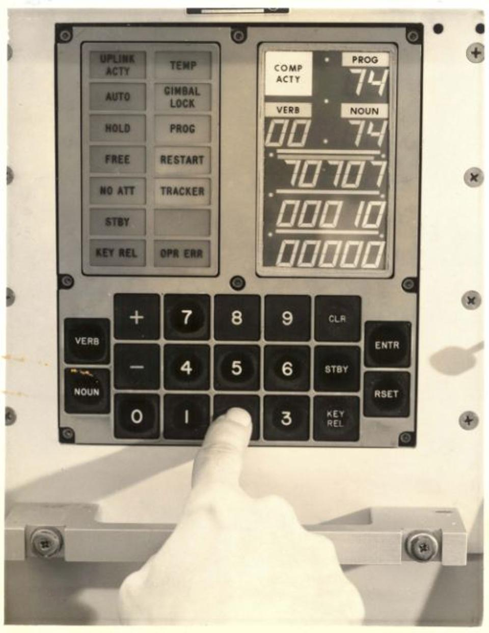 The interface for the Apollo Guidance computers