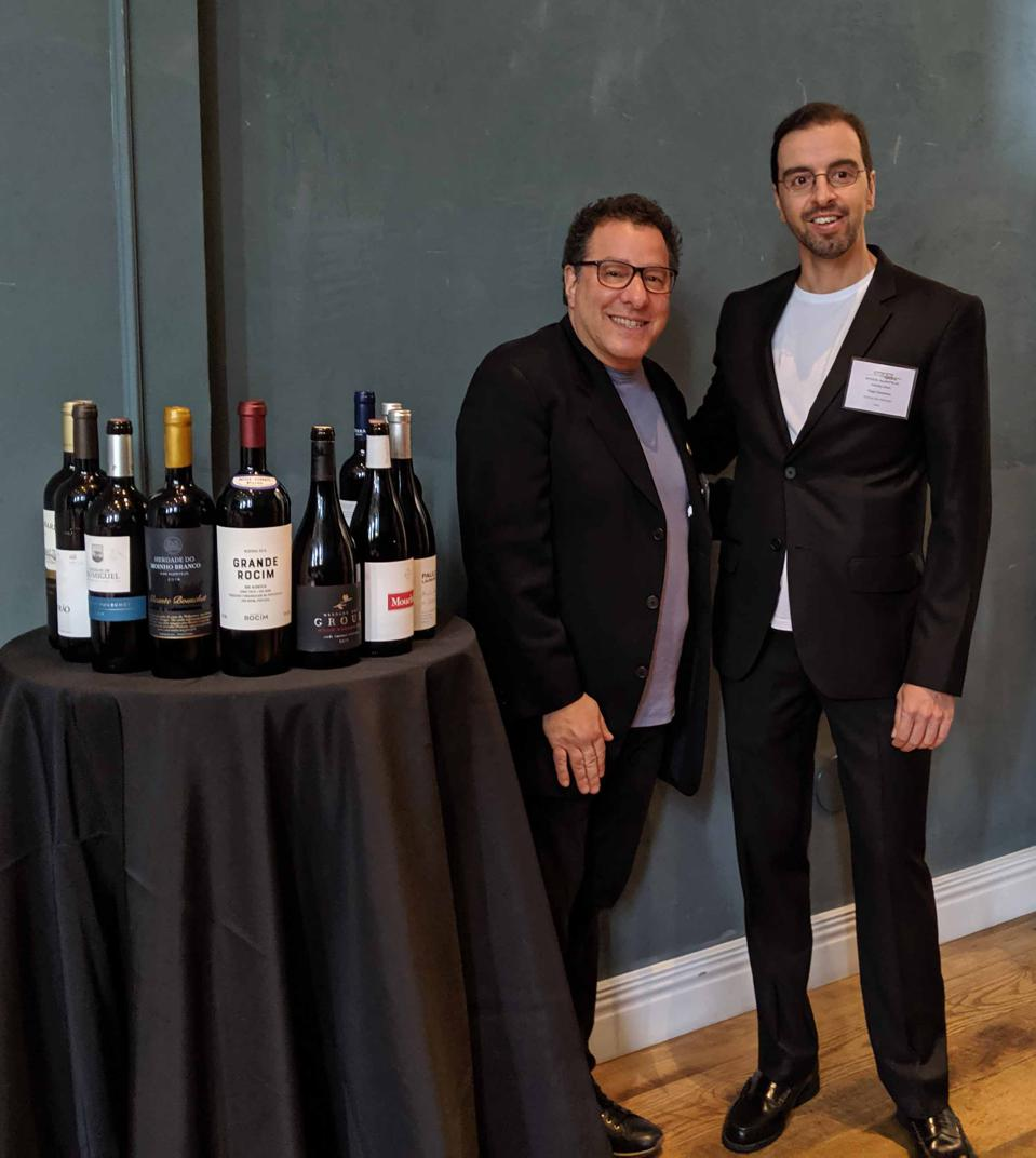 Evan Goldstein MS and Tiago Caravana, Marketing Manager Wines of Alentejo