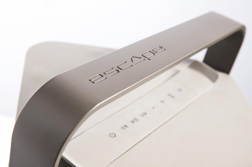 Escape P9 speaker showing handle and controls