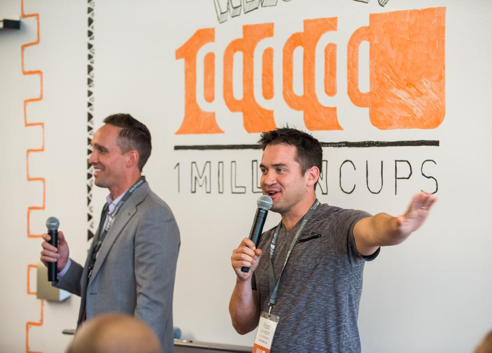 1 Million Cups event hosted with local entrepreneurs.
