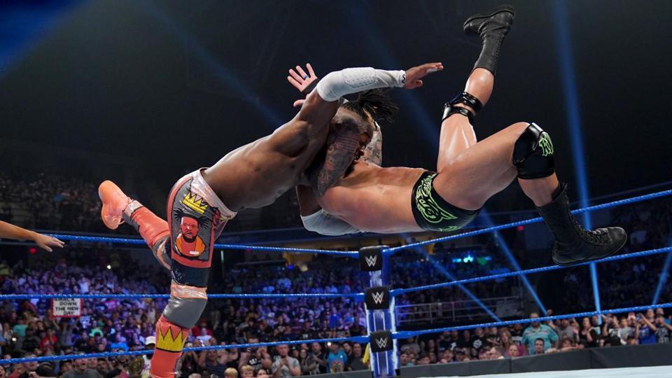 Randy Orton RKOs Kofi Kingston