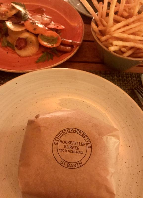 Homemade Rockefeller Burger by Chef Tissier