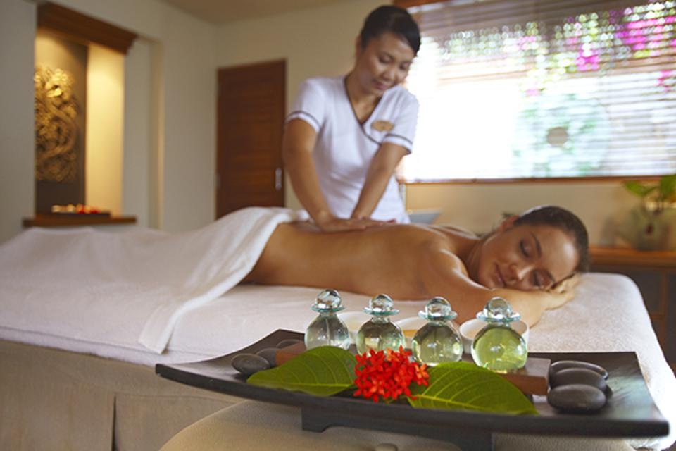 Massage treatments inspired by African or Asian traditional healing methods at Serenity Spa