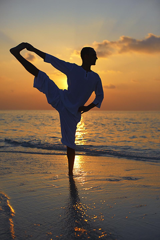 Sunset Yoga on a sandbar