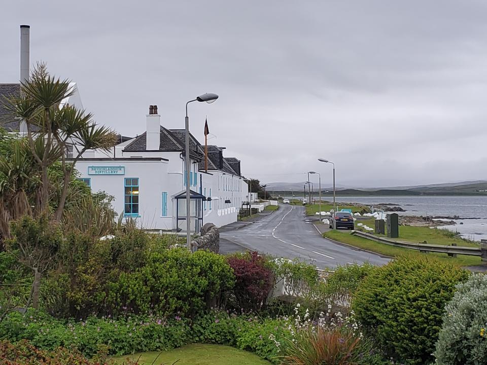 Bruichladdich Distillery, a landmark in the Scottish island of Islay