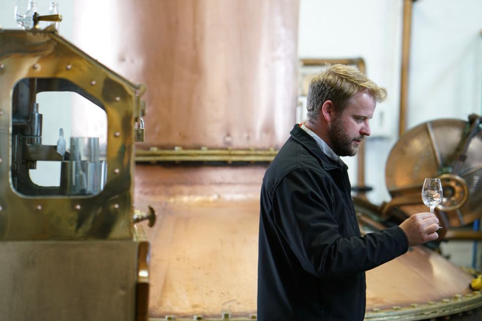 Master distiller Adam Hannett