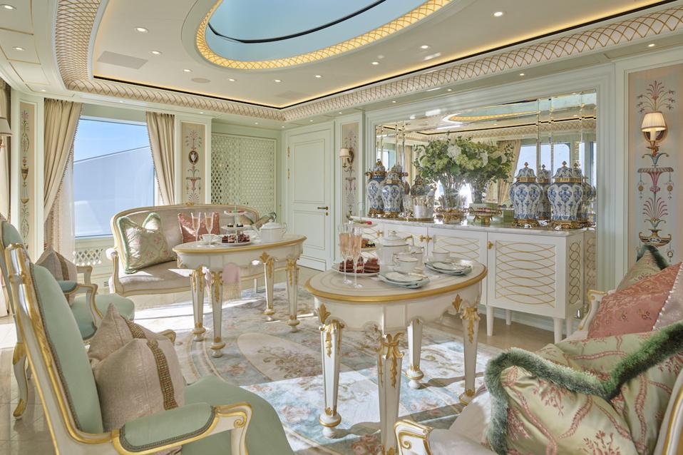 The top deck Tea Room aboard TIS.