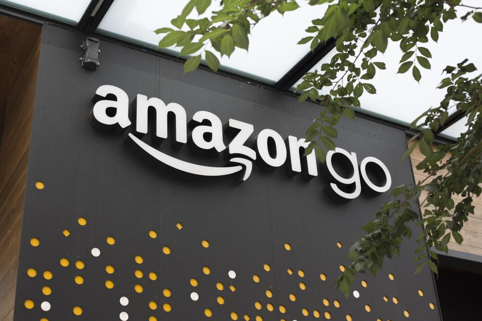 A sign for Amazon Go