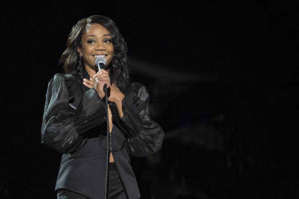 Tiffany Haddish performs in 'Seth Rogen's Hilarity for Charity' on Netflix.