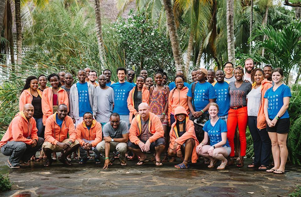 The Ona team at a company retreat in Watamu, Kenya.