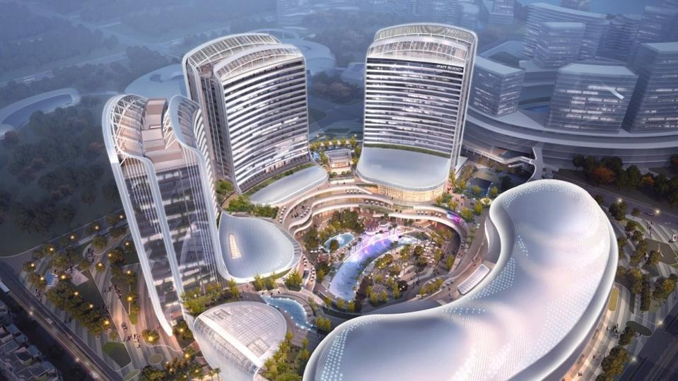 Lionsgate Entertainment World located at Novotown on Hengqin Island in Zhuhai, China