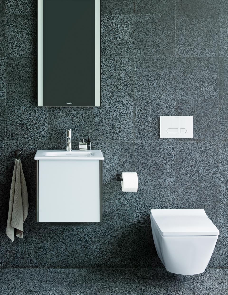 This is part of the Viu collection by Duravit. Their Rimless®​ technology ensures outstanding flush performance, while metal buttons positioned on the sides allow for easy removal of the seat cover to simplify cleaning.