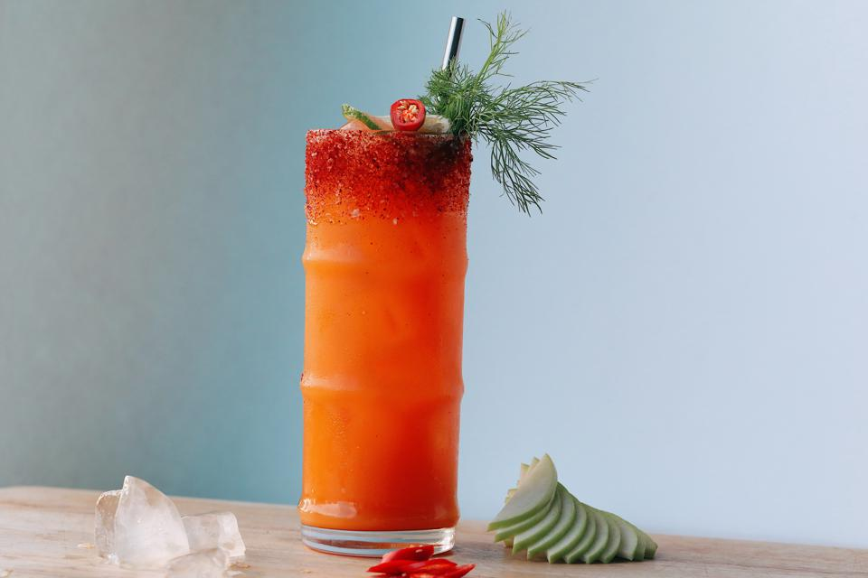 Carrot Apple Ginger & Cayenne Cocktail