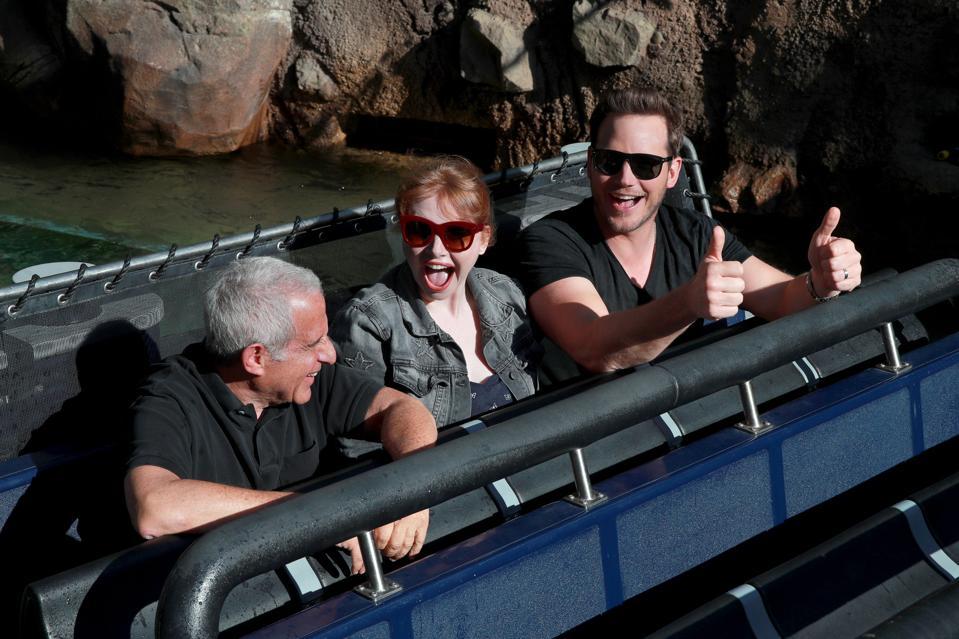 Jurassic World, Universal Studios, Chris Pratt, Bryce Dallas Howard, interview, theme park