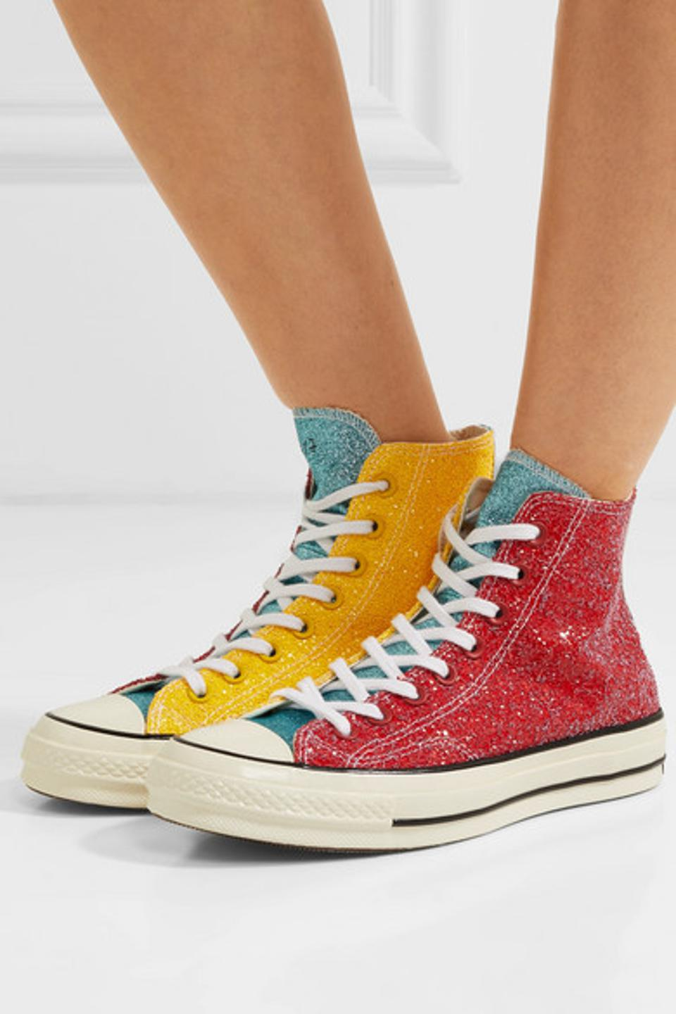 Converse and JW Anderson Chuck Taylor All Star 70 Glittered Canvas High-Top Sneakers