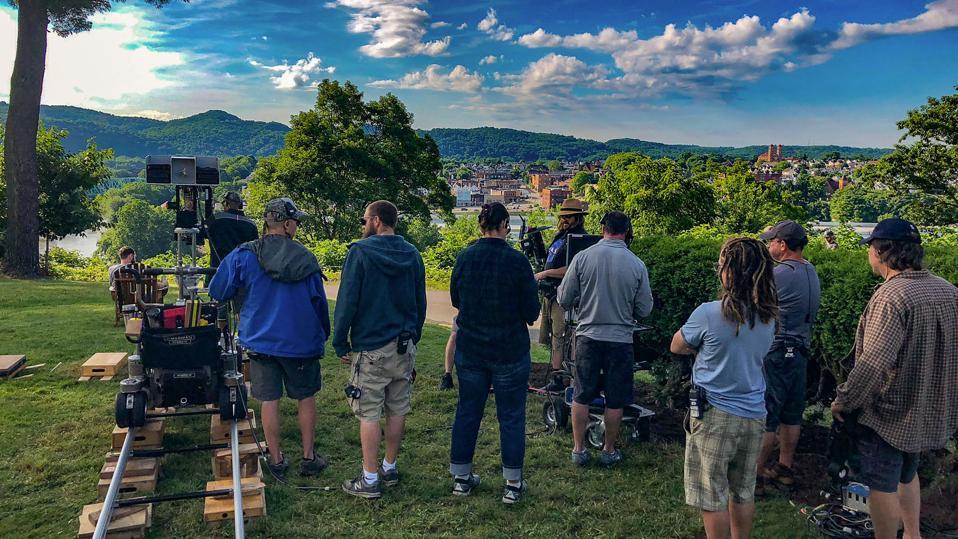 Film crew in southwestern PA (One Dollar, CBS)