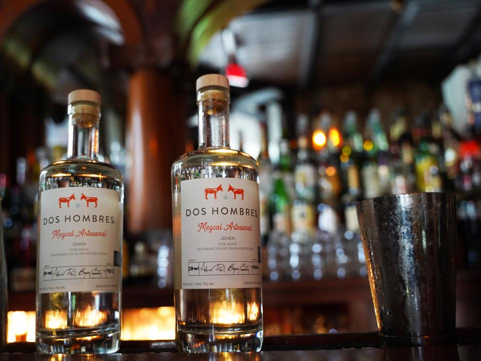 Dos Hombres, the new mezcal brand, founded by actors Aaron Paul and Bryan Cranston.