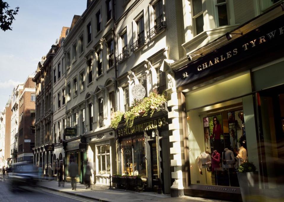 The view on Jermyn Street.