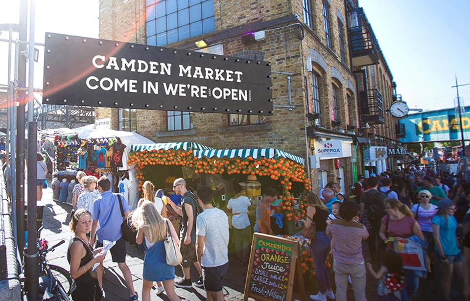 The view at Camden Market.