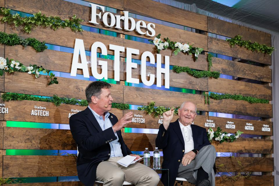 The stage at Forbes AgTech Summit, Salinas 2019