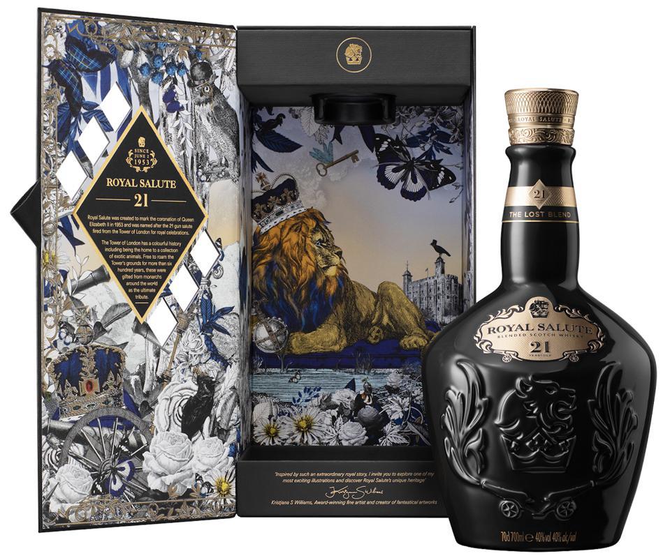 Royal Salute's ″The Lost Blend″ was meticulously crafted to include scarce and exceptional whiskies from distilleries no longer in production.
