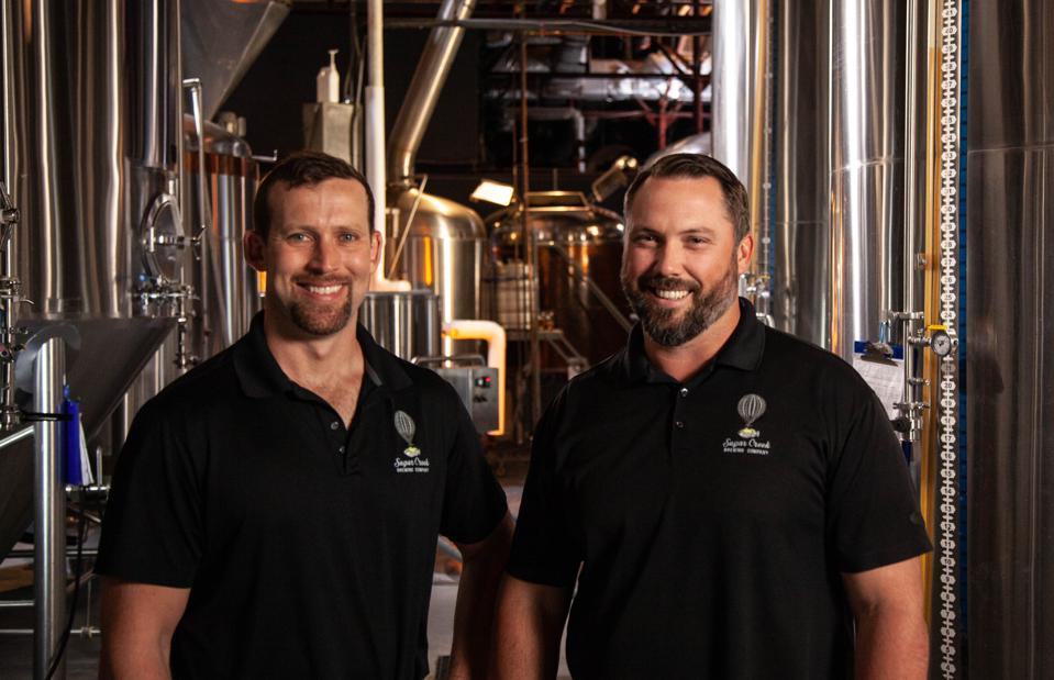 Sugar Creek Brewing co-founders: Joe Vogelbacher and Eric Flanigan